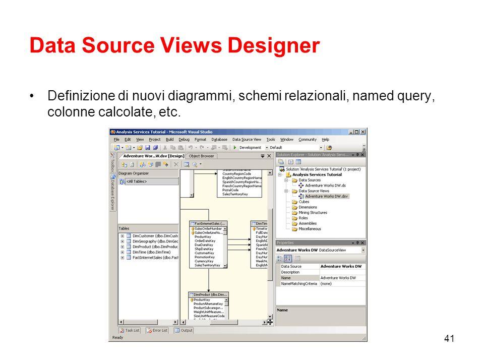 Data Source Views Designer