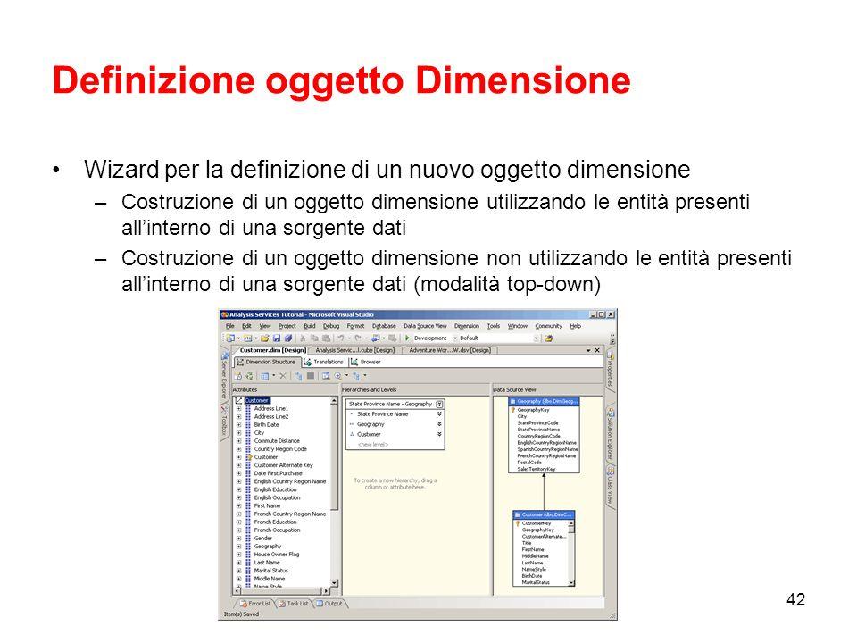 Definizione oggetto Dimensione