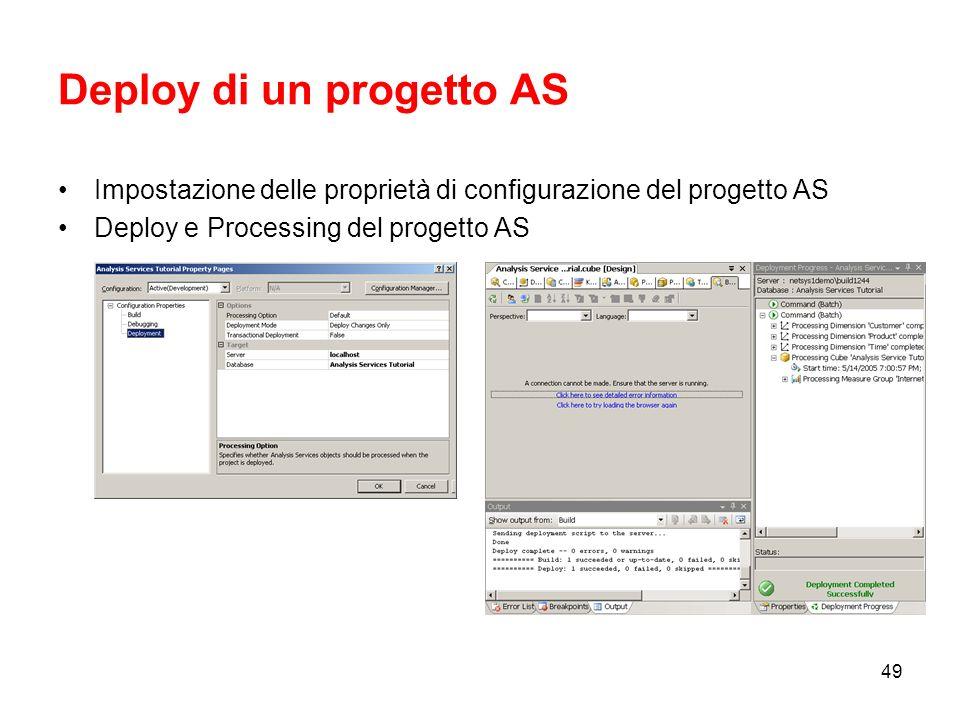 Deploy di un progetto AS