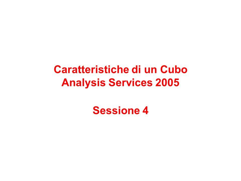 Caratteristiche di un Cubo Analysis Services 2005