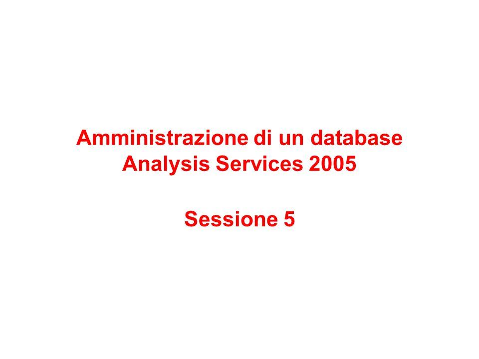 Amministrazione di un database Analysis Services 2005