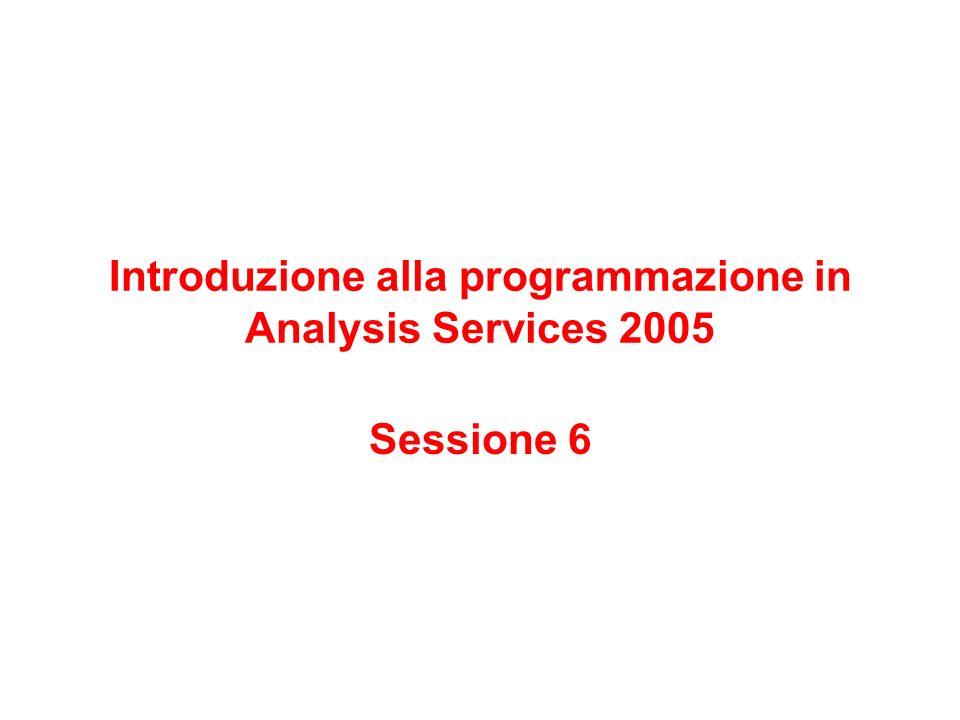 Introduzione alla programmazione in Analysis Services 2005