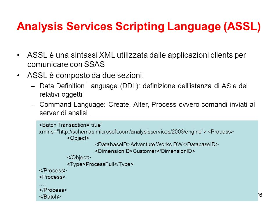 Analysis Services Scripting Language (ASSL)