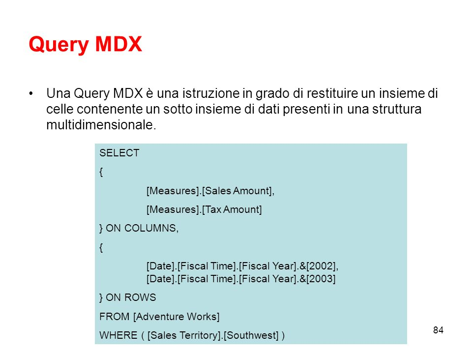 Query MDX