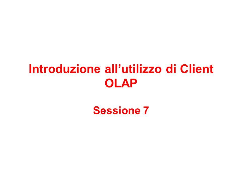 Introduzione all'utilizzo di Client OLAP