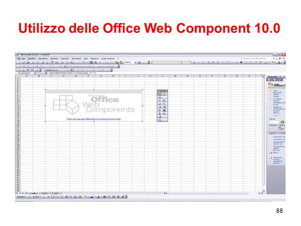 Utilizzo delle Office Web Component 10.0
