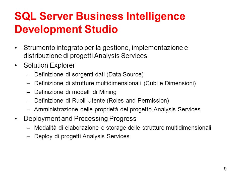 SQL Server Business Intelligence Development Studio
