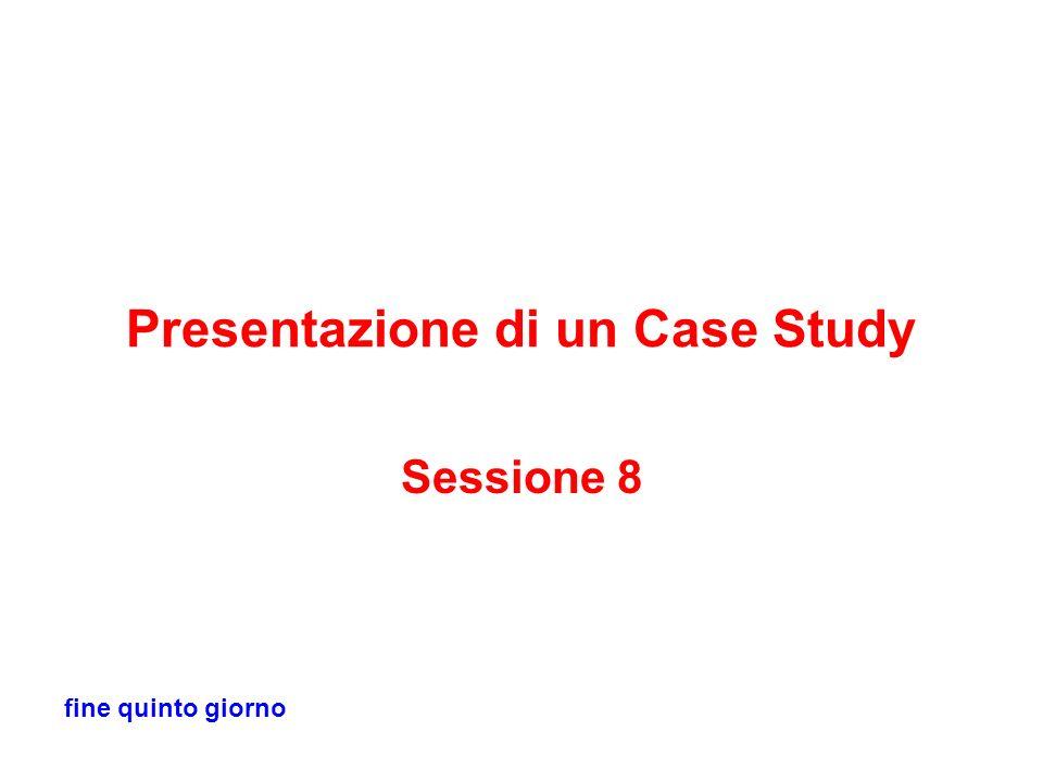 Presentazione di un Case Study