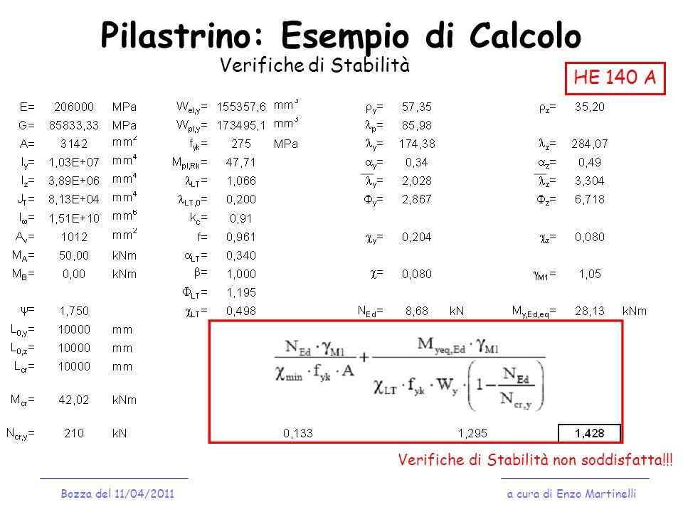Pilastrino: Esempio di Calcolo