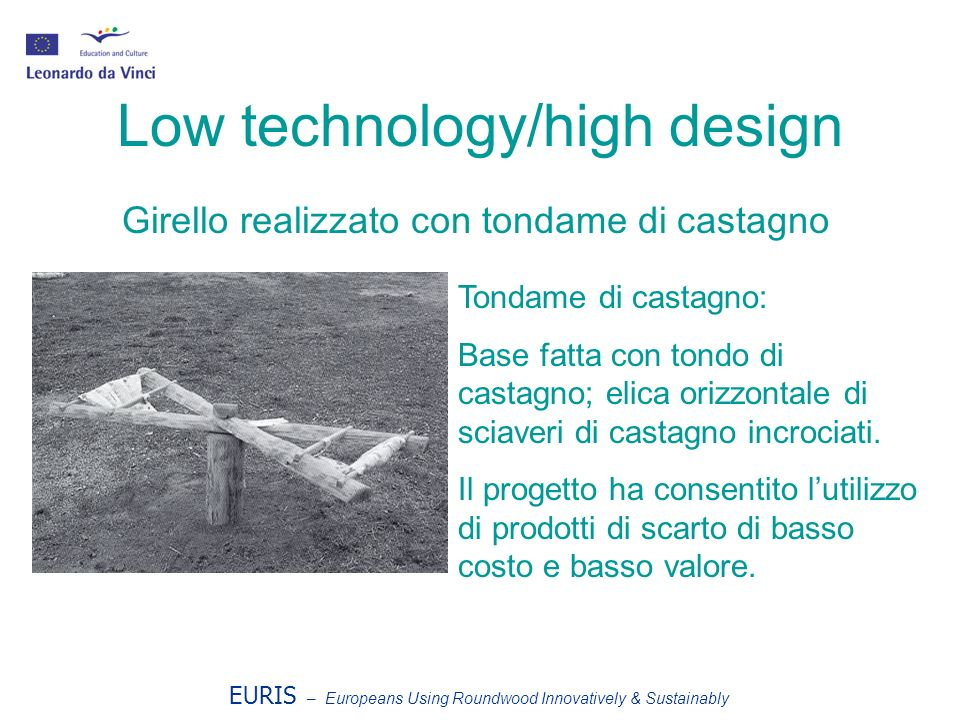 Low technology/high design