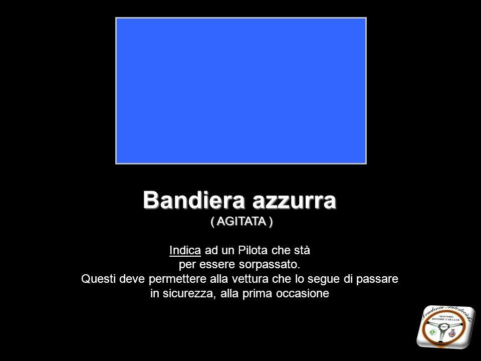 Bandiera azzurra ( AGITATA ) Indica ad un Pilota che stà