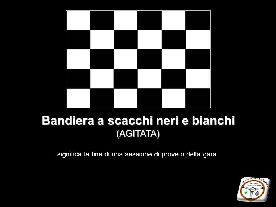 Bandiera a scacchi neri e bianchi (AGITATA)