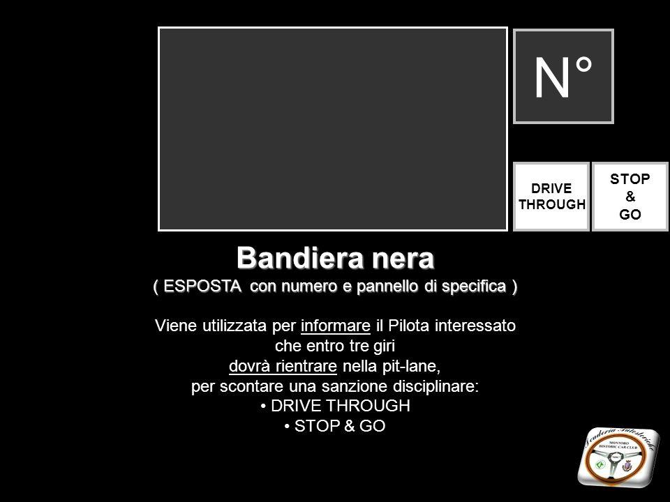 N° Bandiera nera ( ESPOSTA con numero e pannello di specifica )