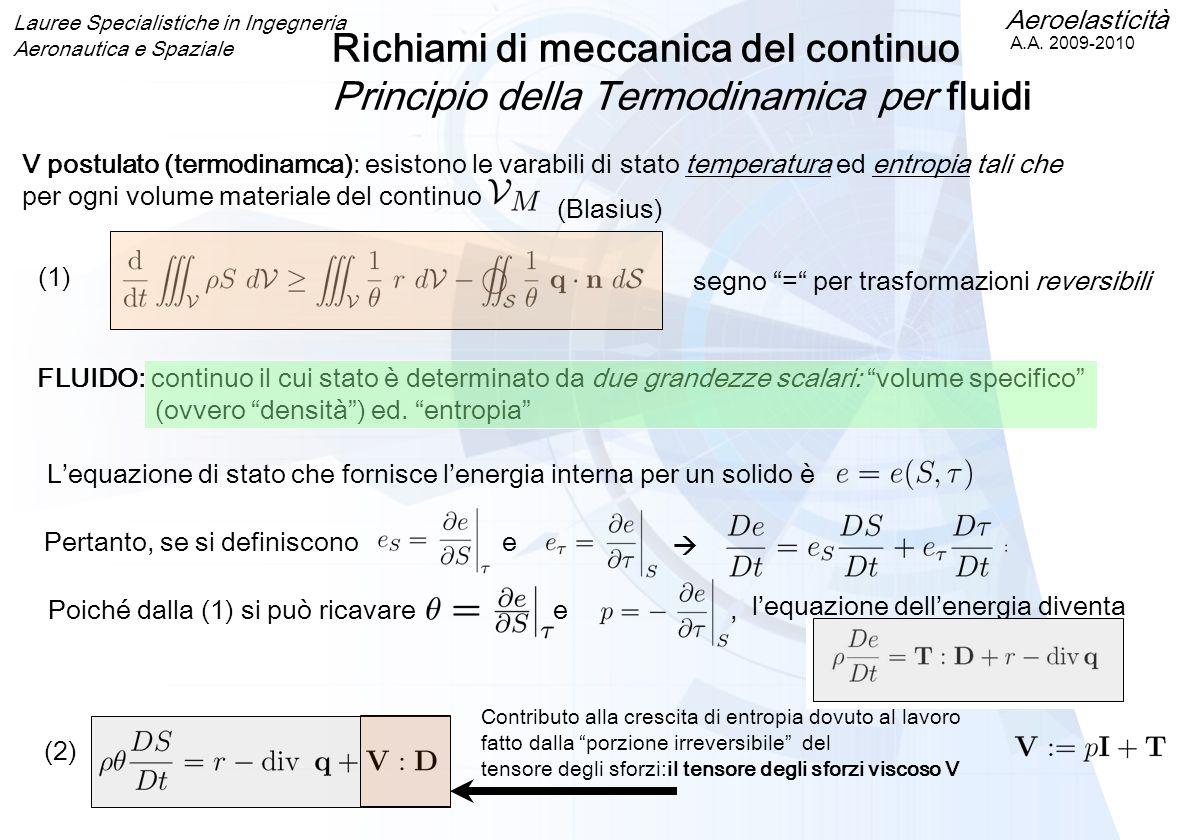 Richiami di meccanica del continuo