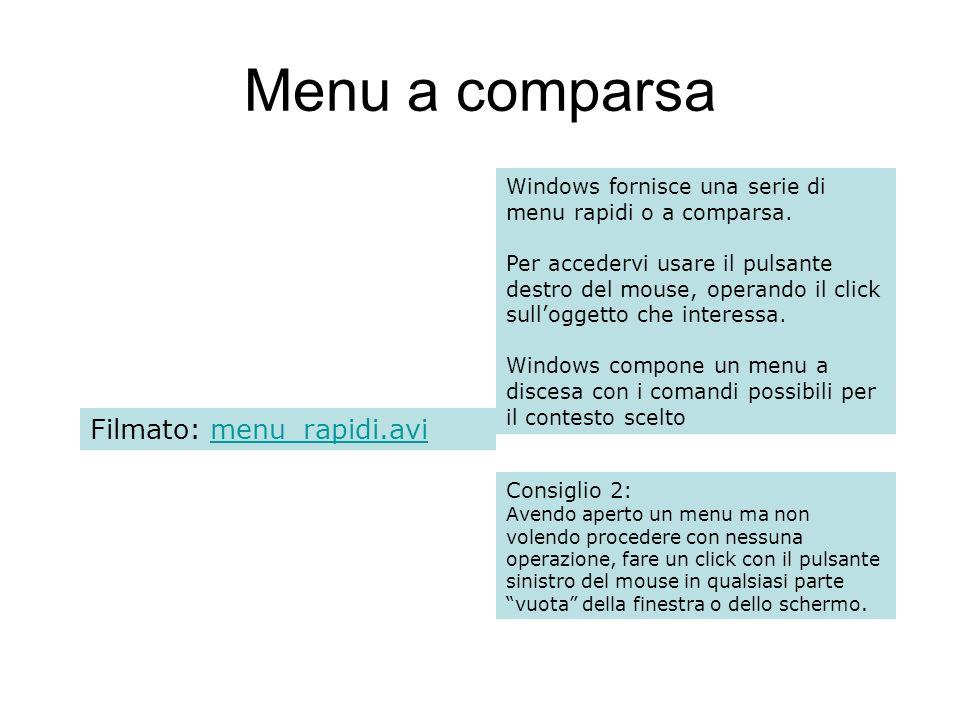 Menu a comparsa Filmato: menu_rapidi.avi