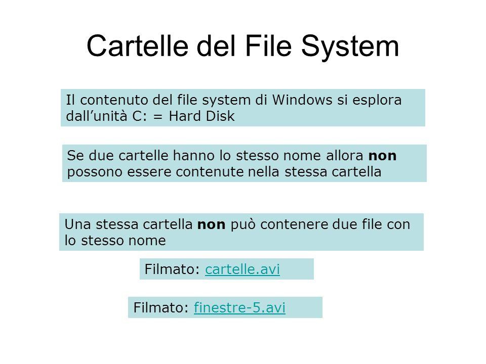Cartelle del File System