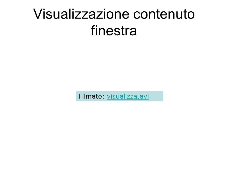 Visualizzazione contenuto finestra