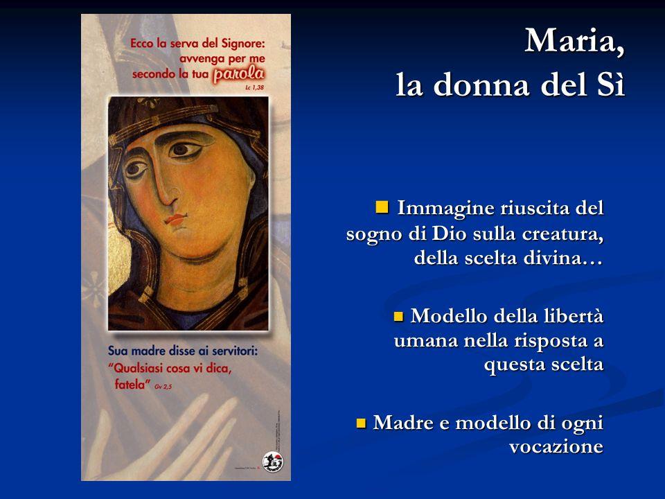 Maria, la donna del Sì Immagine riuscita del sogno di Dio sulla creatura, della scelta divina…
