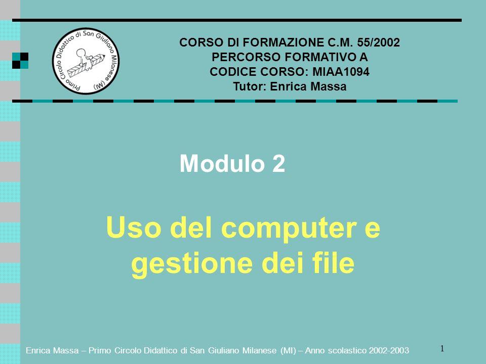 CORSO DI FORMAZIONE C.M. 55/2002