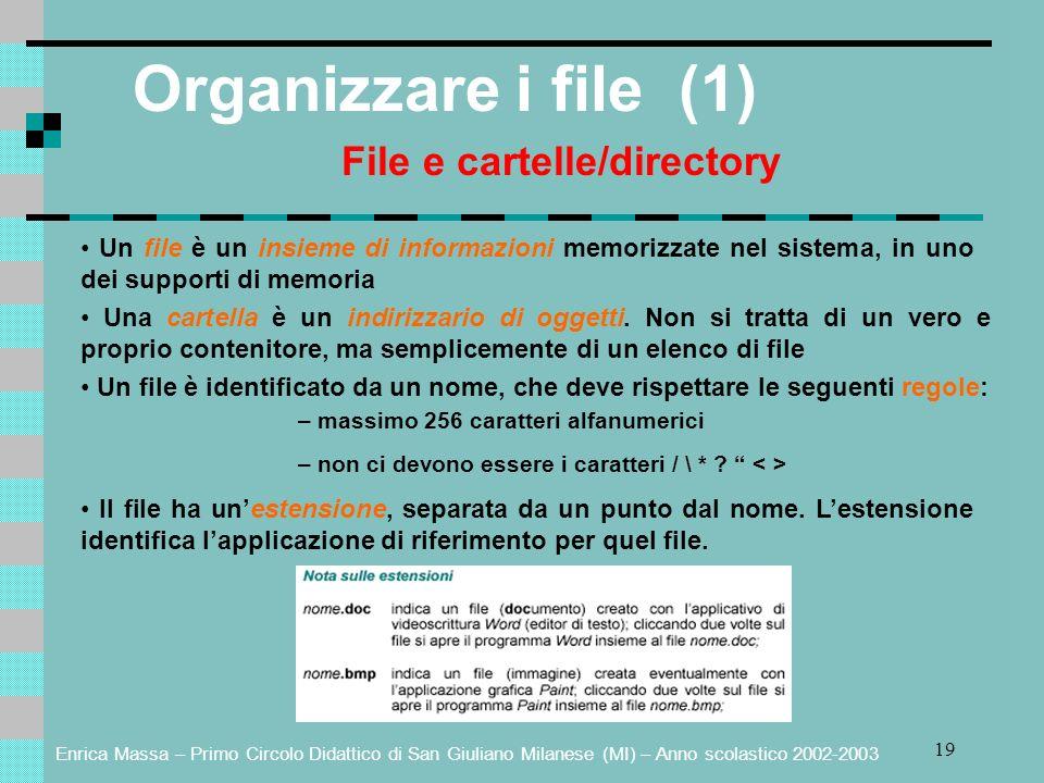 File e cartelle/directory