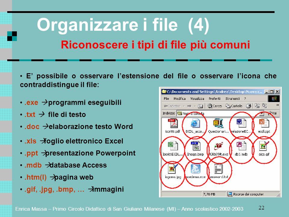 Riconoscere i tipi di file più comuni