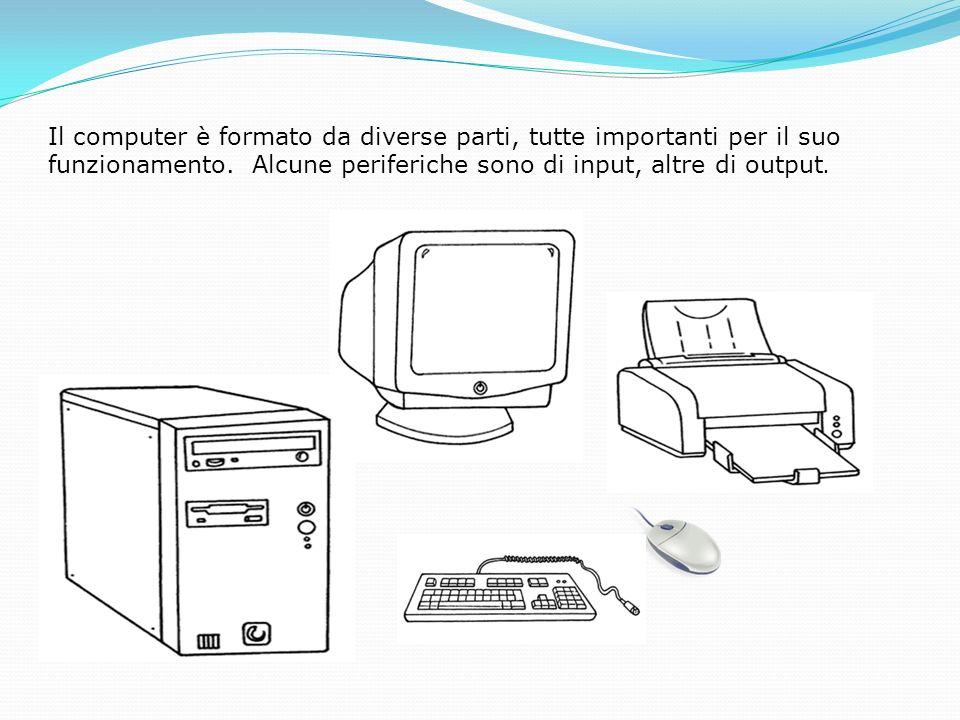 Il computer è formato da diverse parti, tutte importanti per il suo funzionamento.
