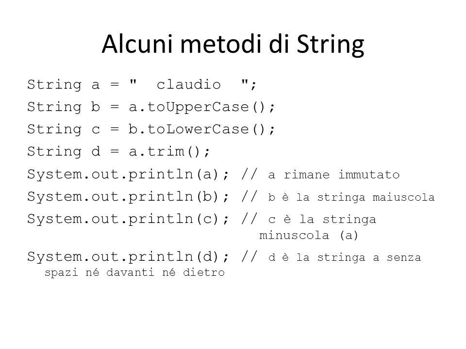 Alcuni metodi di String