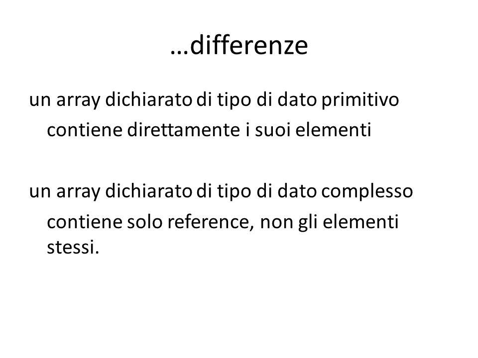 …differenze