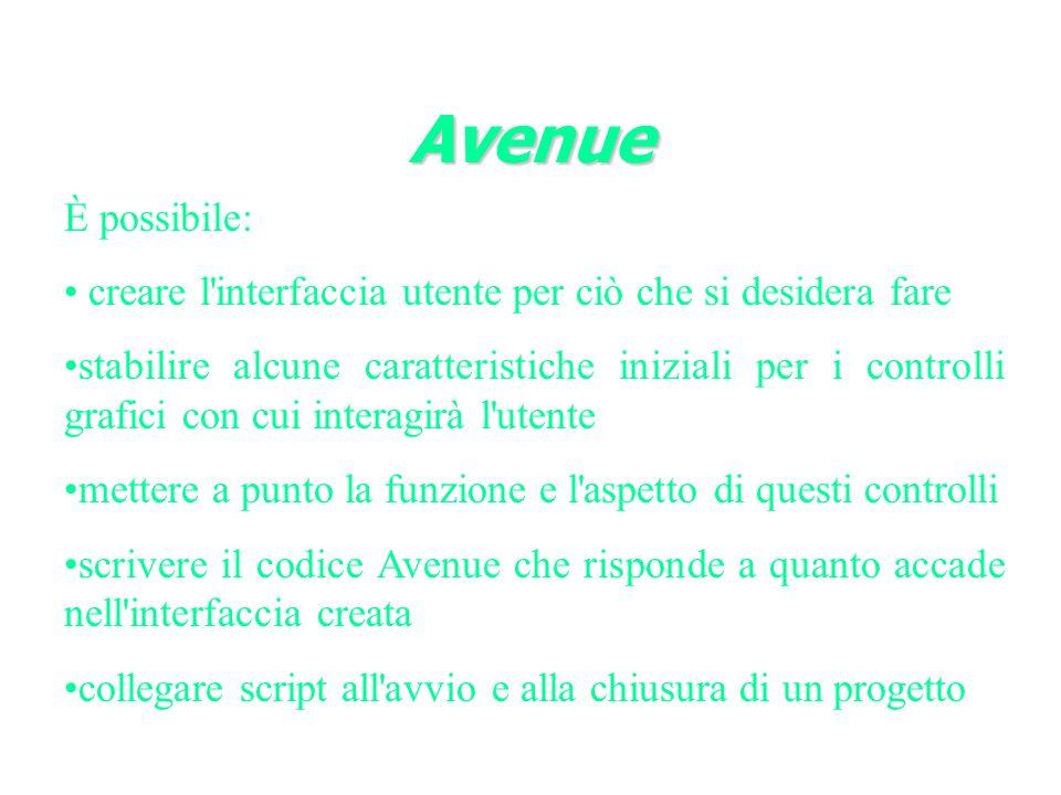Avenue È possibile: creare l interfaccia utente per ciò che si desidera fare.