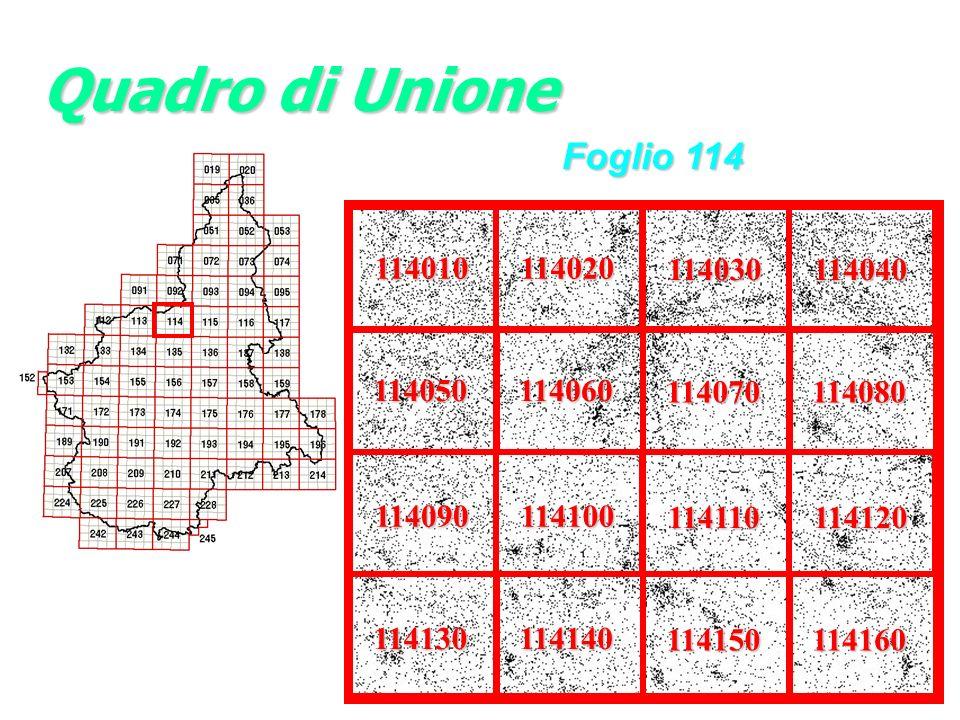 Quadro di Unione Foglio 114 114010 114020 114030 114040 114050 114060