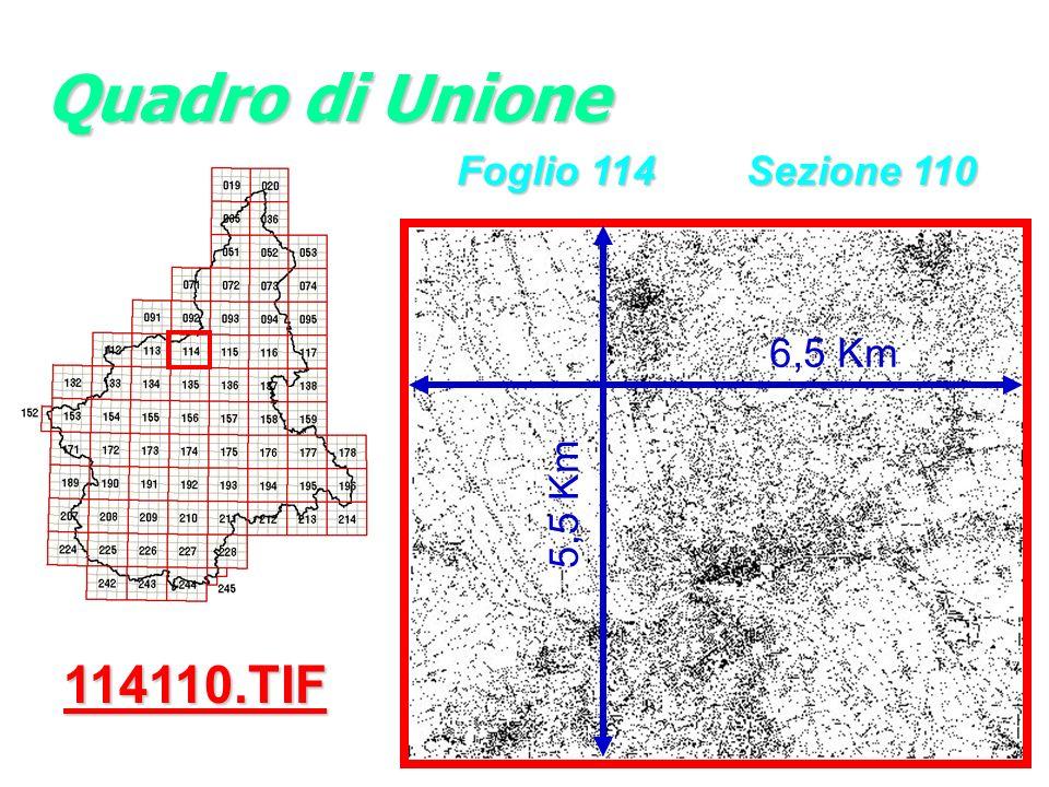 Quadro di Unione Foglio 114 Sezione 110 6,5 Km 5,5 Km 114110.TIF