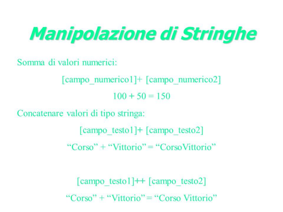 Manipolazione di Stringhe
