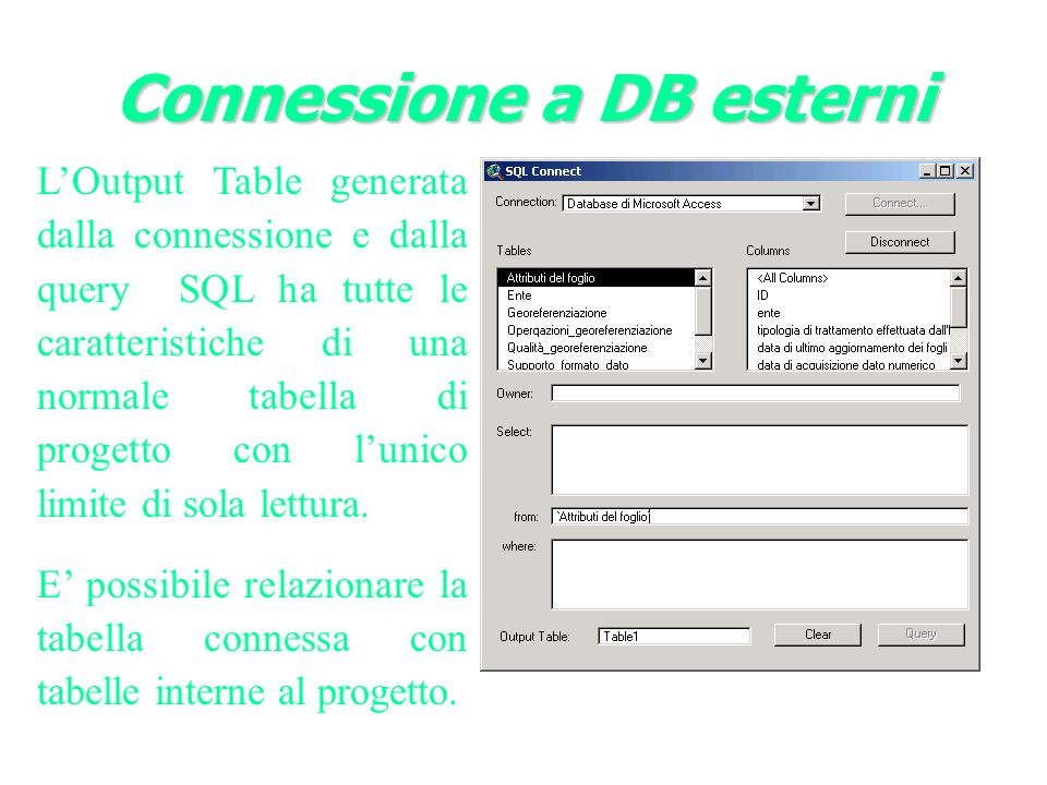 Connessione a DB esterni
