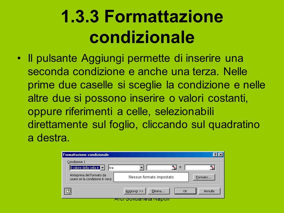 1.3.3 Formattazione condizionale