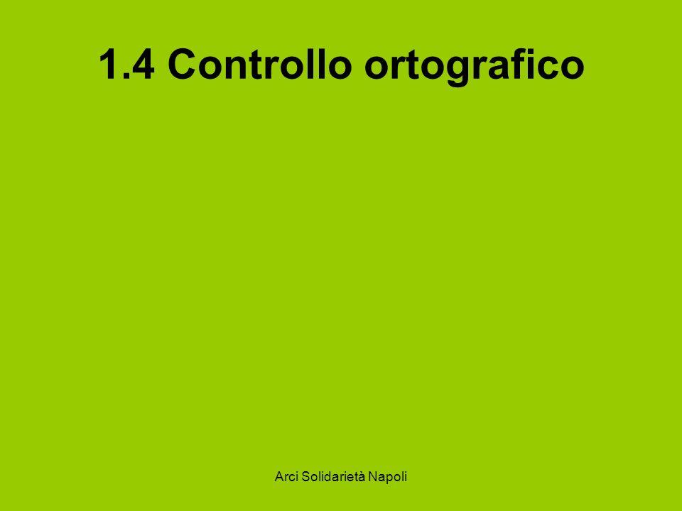 1.4 Controllo ortografico