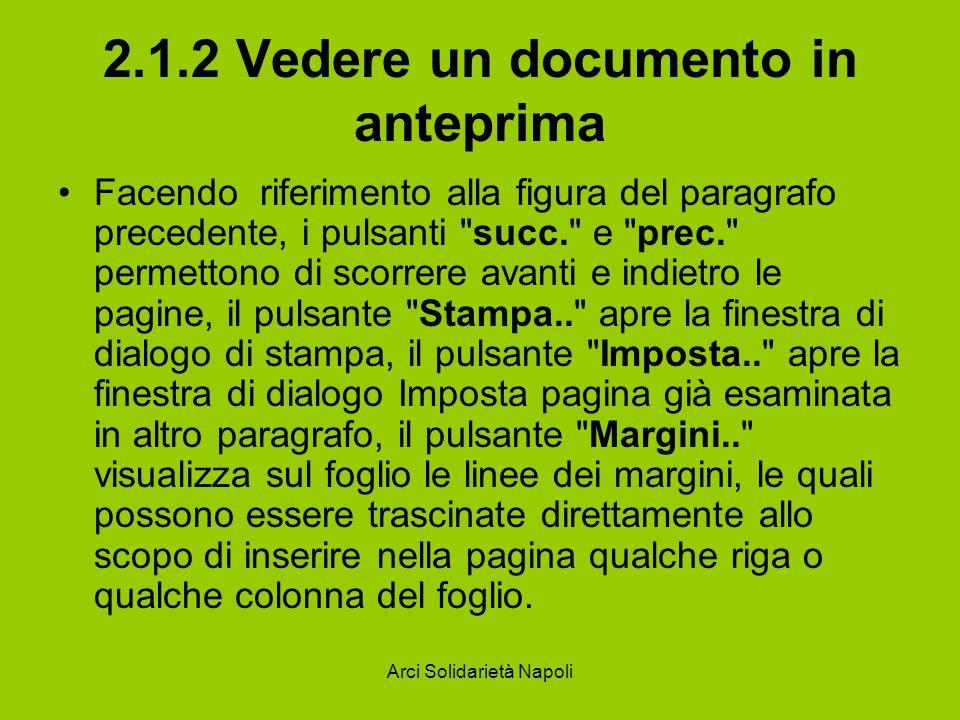 2.1.2 Vedere un documento in anteprima