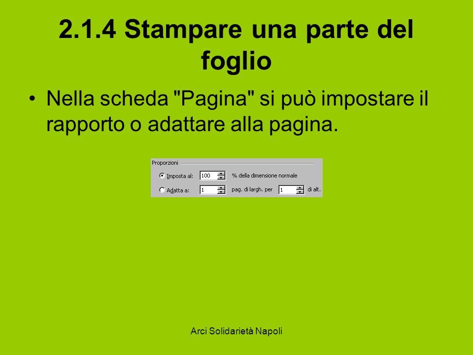 2.1.4 Stampare una parte del foglio