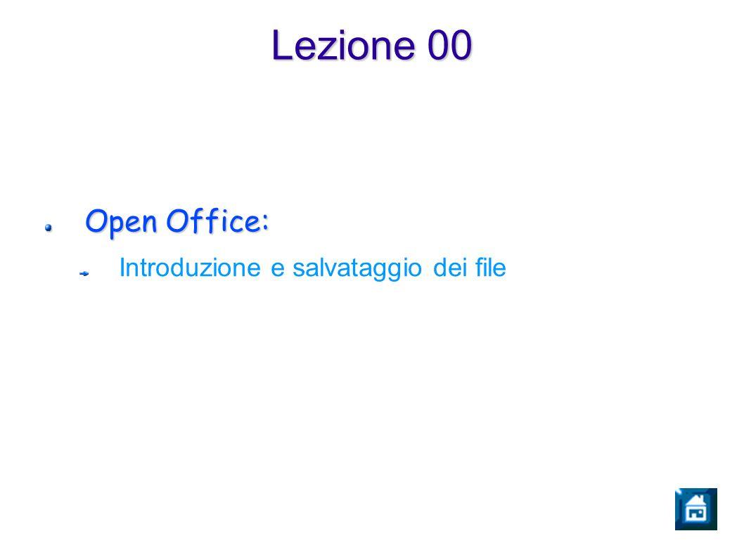 Lezione 00 Open Office: Introduzione e salvataggio dei file