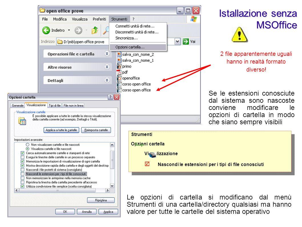 Istallazione senza MSOffice