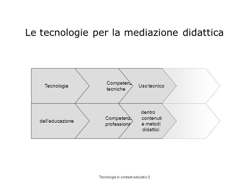 Le tecnologie per la mediazione didattica