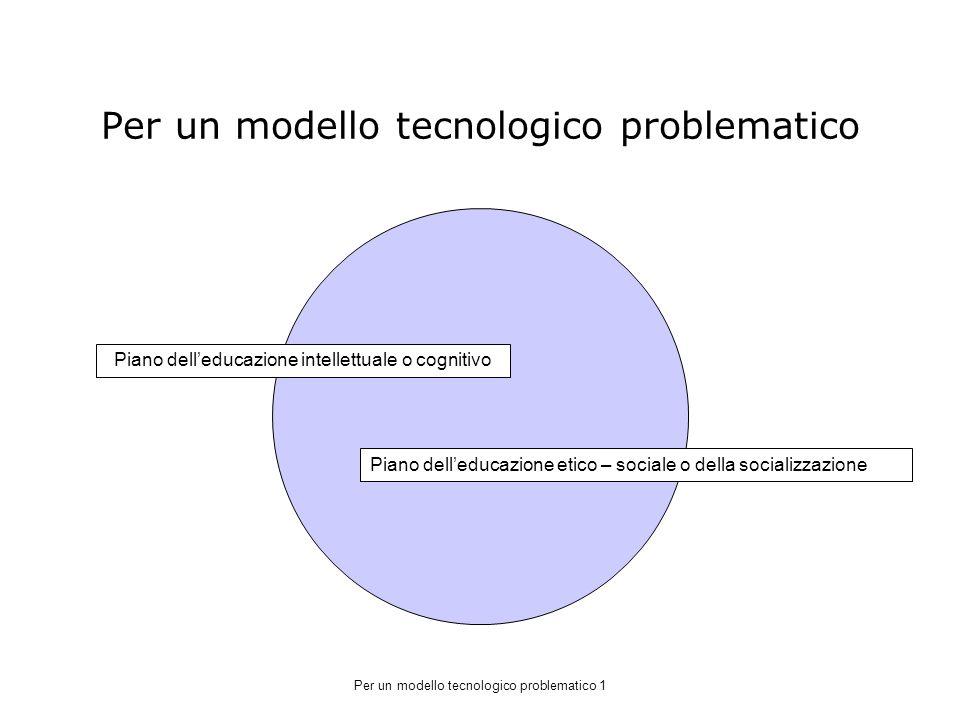 Per un modello tecnologico problematico
