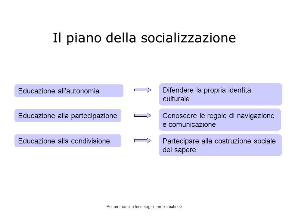 Il piano della socializzazione