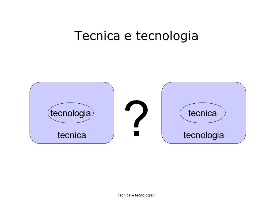 Tecnica e tecnologia tecnica tecnologia Tecnica e tecnologia 1