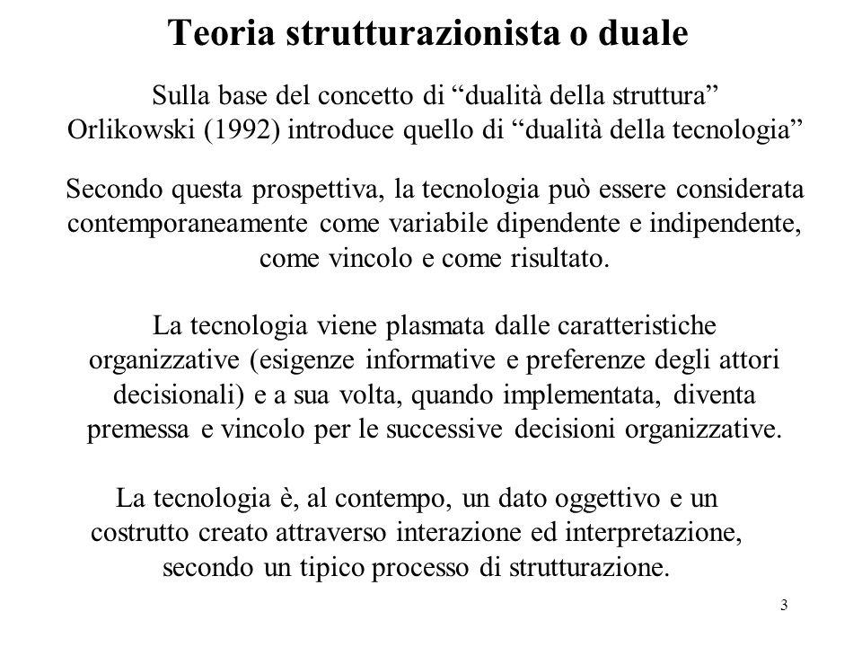 Teoria strutturazionista o duale
