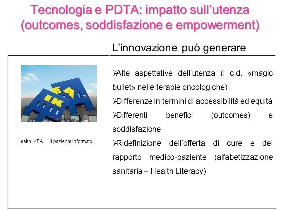 Tecnologia e PDTA: impatto sull'utenza (outcomes, soddisfazione e empowerment)