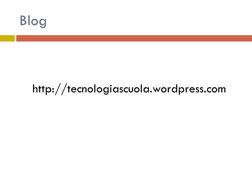 Blog http://tecnologiascuola.wordpress.com