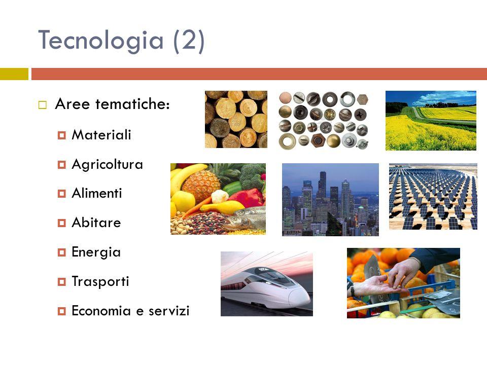 Tecnologia (2) Aree tematiche: Materiali Agricoltura Alimenti Abitare