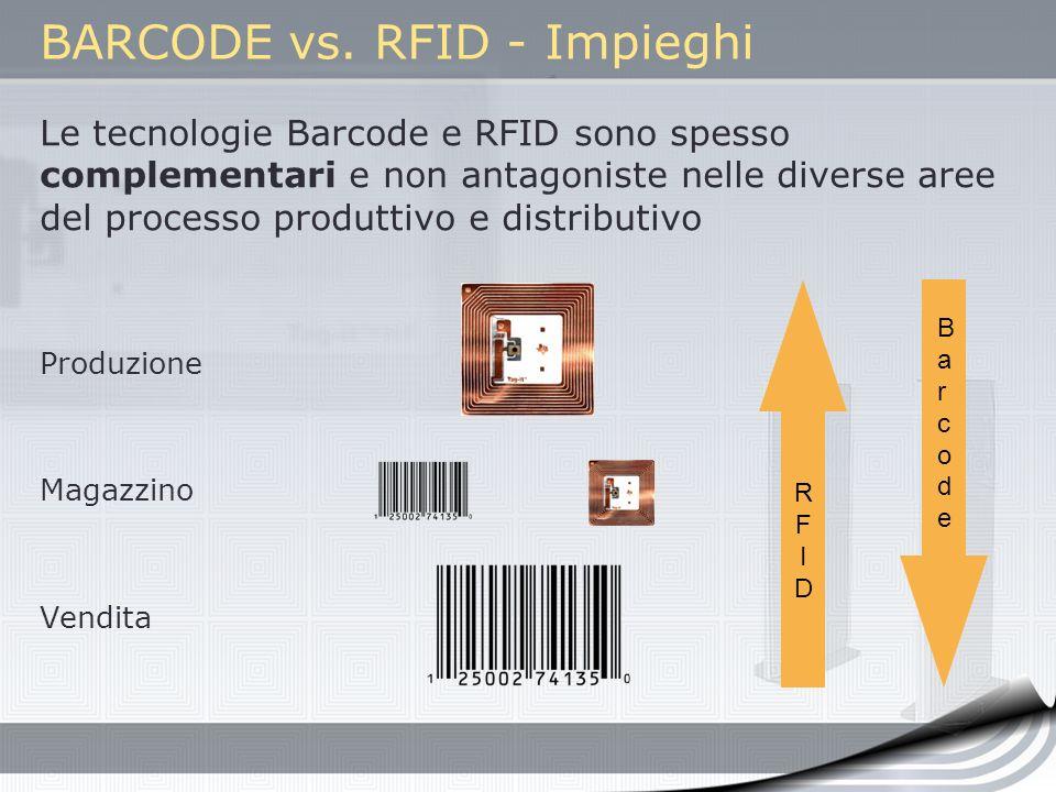 BARCODE vs. RFID - Impieghi