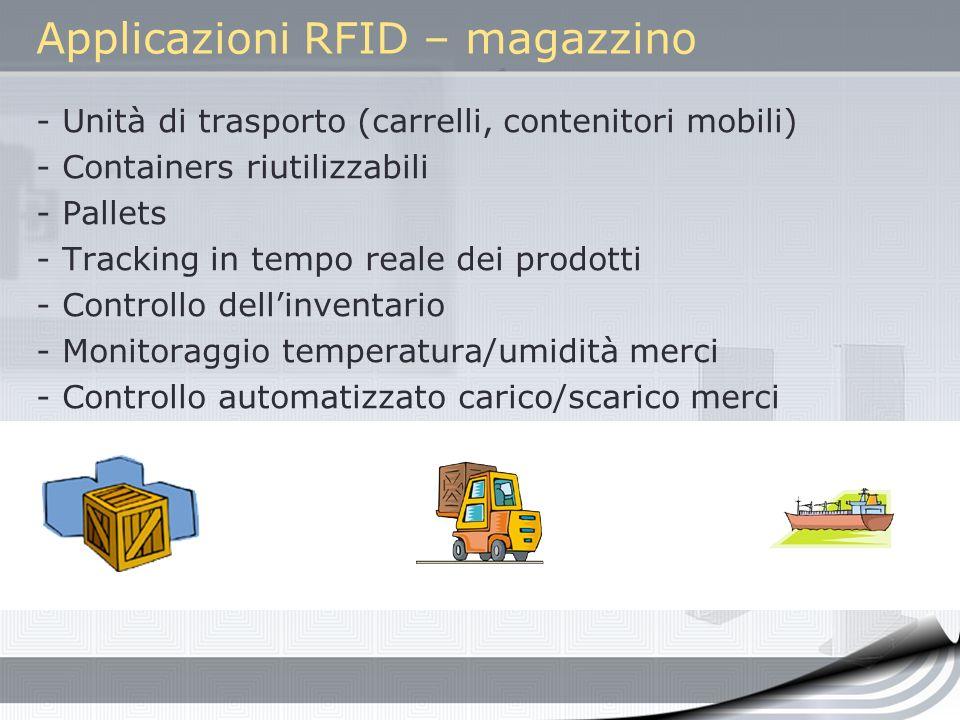Applicazioni RFID – magazzino