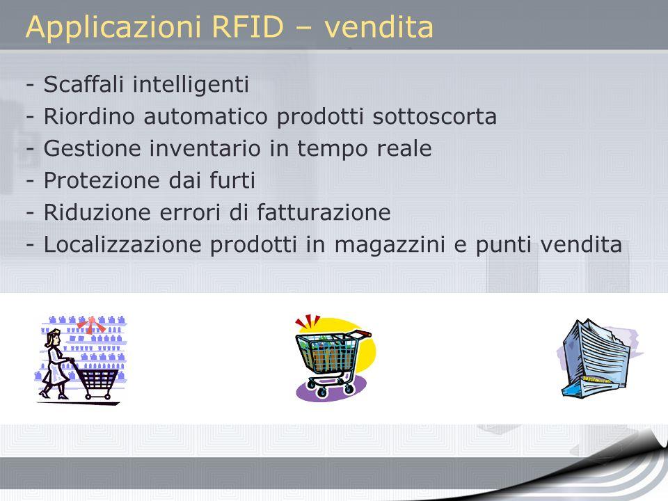 Applicazioni RFID – vendita